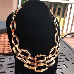 Natasha Gold Link Chunky Necklace